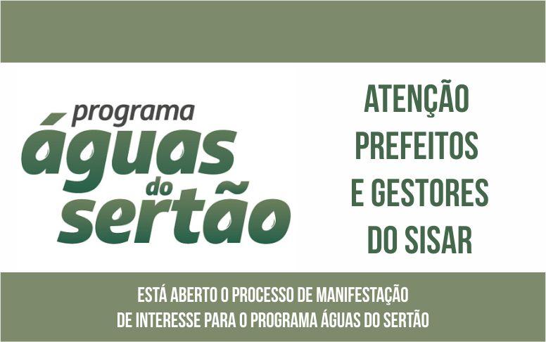 Águas do Sertão: Governo lança plataforma para que prefeitos e gestores do Sisar manifestem interesse