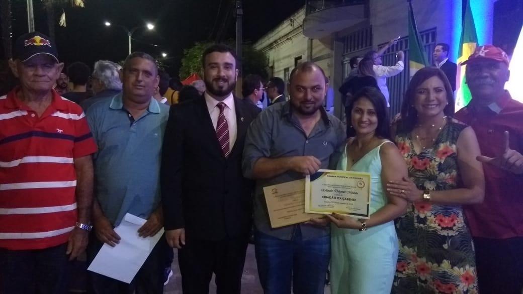 Responsável Técnico do Sisar de Russas recebe título de cidadão Itaiçabense